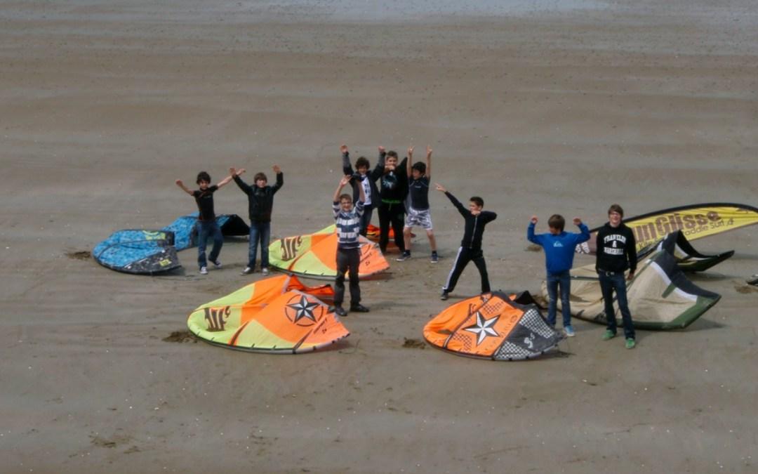 Kitesurf Scolaire : championnat départemental à Nantes