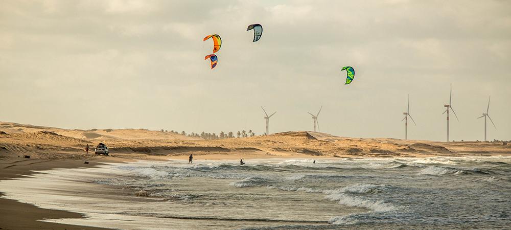 Au milieu du downwind, a jouer dans les vagues