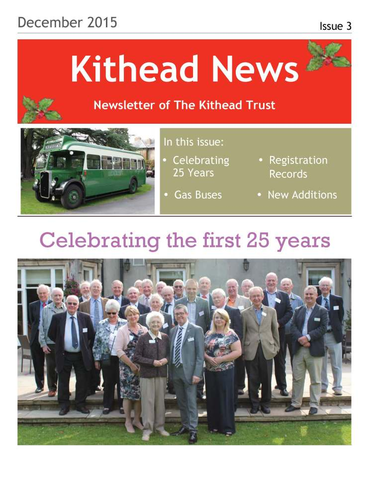 Kithead Newsletter 3 December 2015