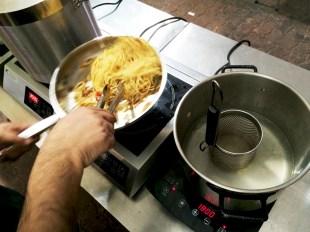 Test cooking in progress.