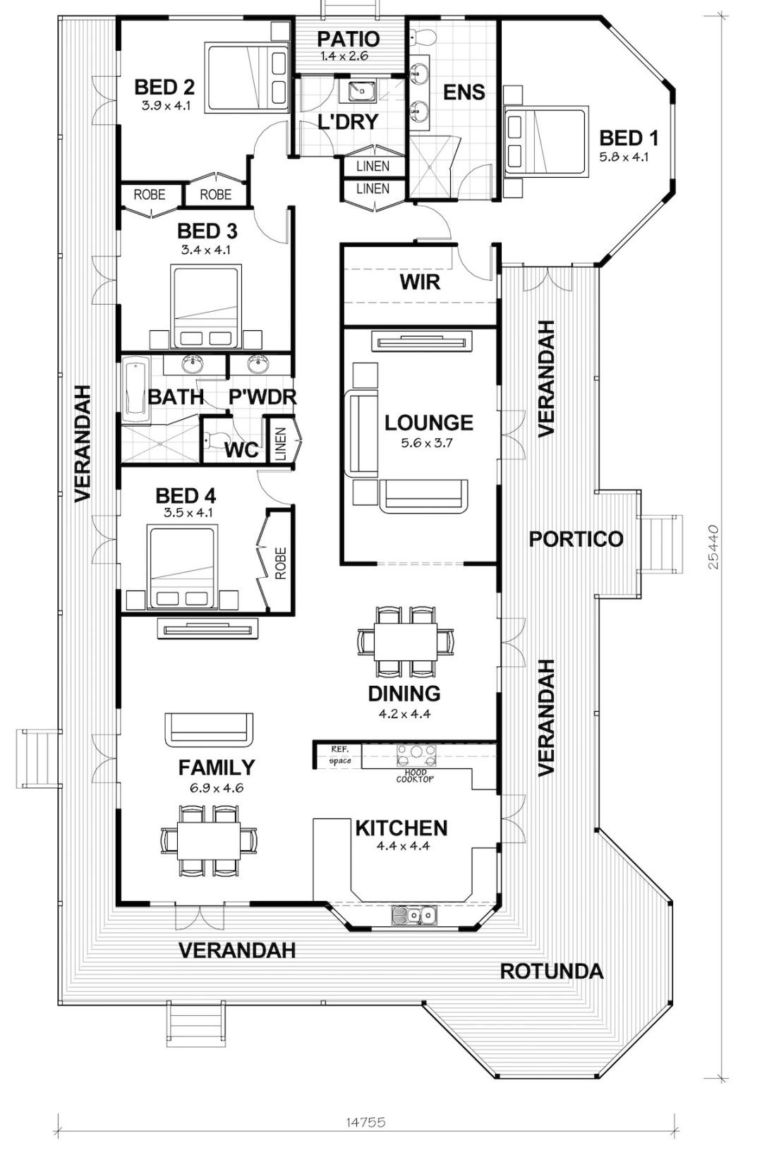 The Rosewood Floorplan