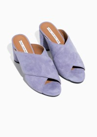 And Other Stories purple cross over mules