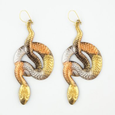 Askew snakes earrings