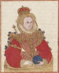 Illustration of Elizabeth I from Trevelyon MS
