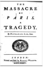 Massacre of Paris title page