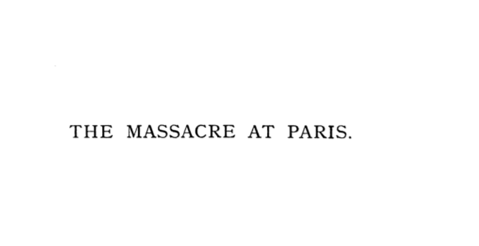 Massacre at Paris, Google Book (1885)