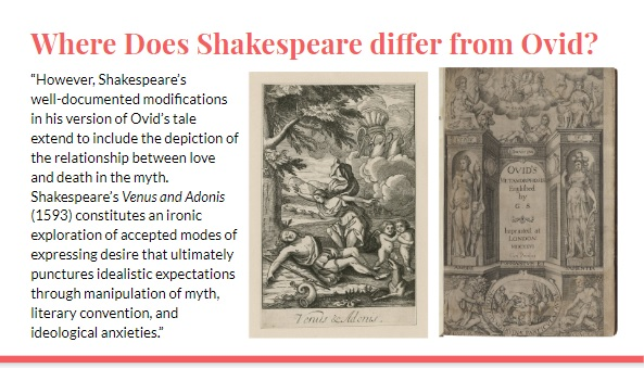 Slide image: Shakespeare and Ovid
