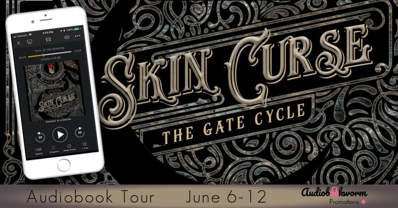 Audiobookworm tour banner for Skin Curse