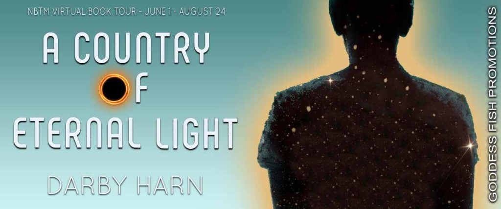 Goddess Fish book tour banner for A Country of Eternal Light by Darby Harn
