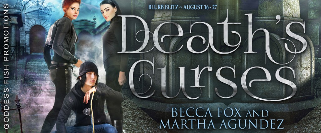 Goddess Fish book tour banner for Death's Curses