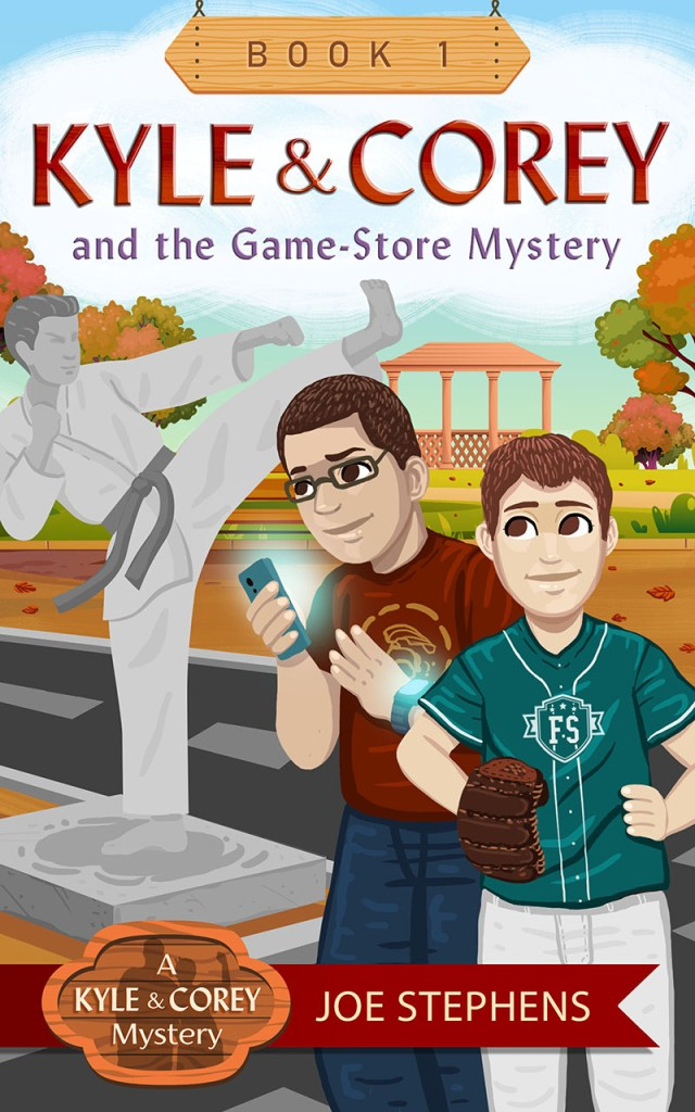 cover of Kyle and Corey and the Game-Store Mystery by Joe Stephens
