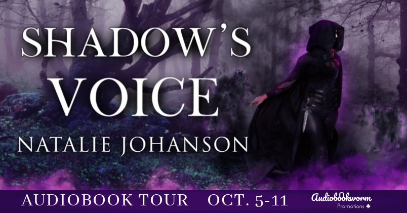 Audiobookworm book tour banner for Shadow's Voice