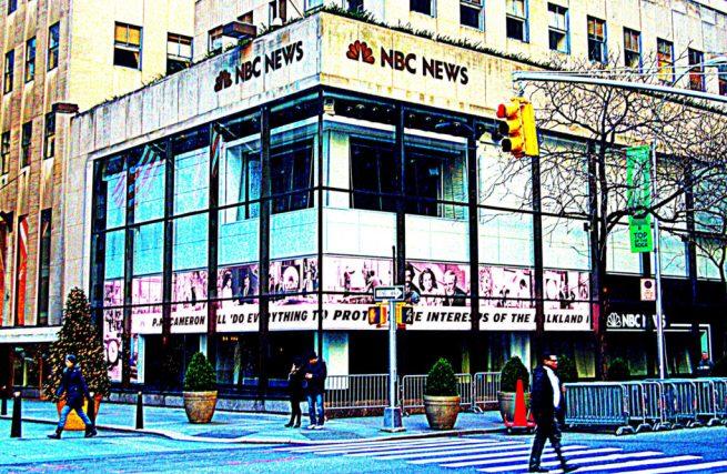 A January 3, 2013 photograph of the NBC News headquarters in New York City. (Flickr / Kiah Ankoor)
