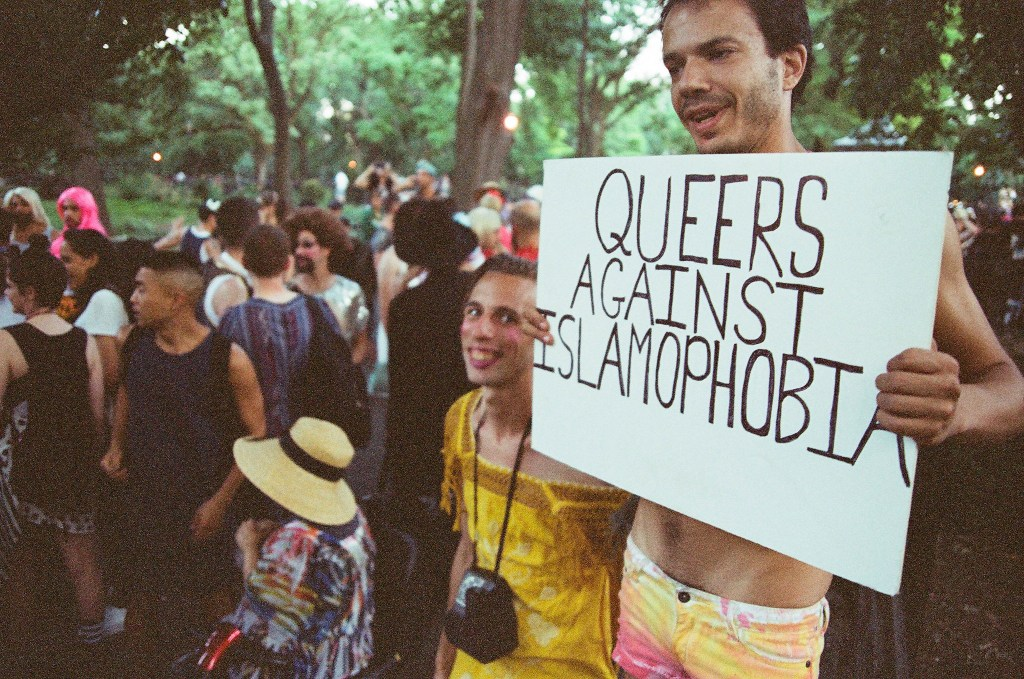 Gay protest signs