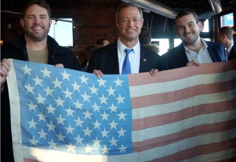 hemp road trip poses with Martin O'Malley