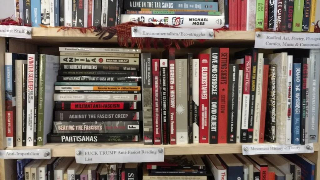 Black Rose Book Distro bookshelf