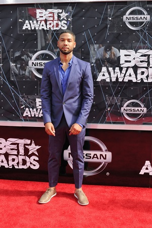 06/28/2015 - Jussie Smollett - 2015 BET Awards - Arrivals - Microsoft Theater - Los Angeles, CA, USA - Keywords: full length, singer, actor Orientation: Portrait Face Count: 1 - False - Photo Credit: Aaron J. Thornton / PR Photos - Contact (1-866-551-7827) - Portrait Face Count: 1