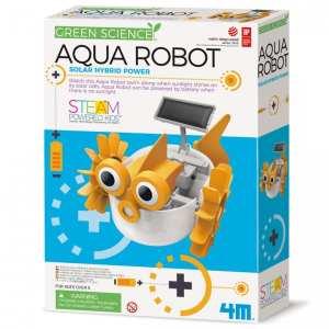 רובוט מים היברידי סולארי משחק הרכבה לילדים 4M