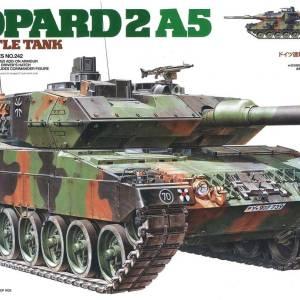 מודל הרכבה לילד טנק LEOPARD 2 A5  צבא גרמניה דגם TAMIYA 1/35