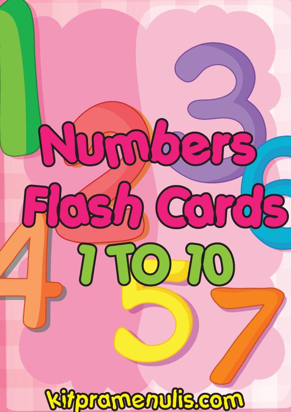 Number-Flash-Card Numbers Flash Card | One To Ten Numbers Flash Card Suitable For Prasekolah And Kindergarten