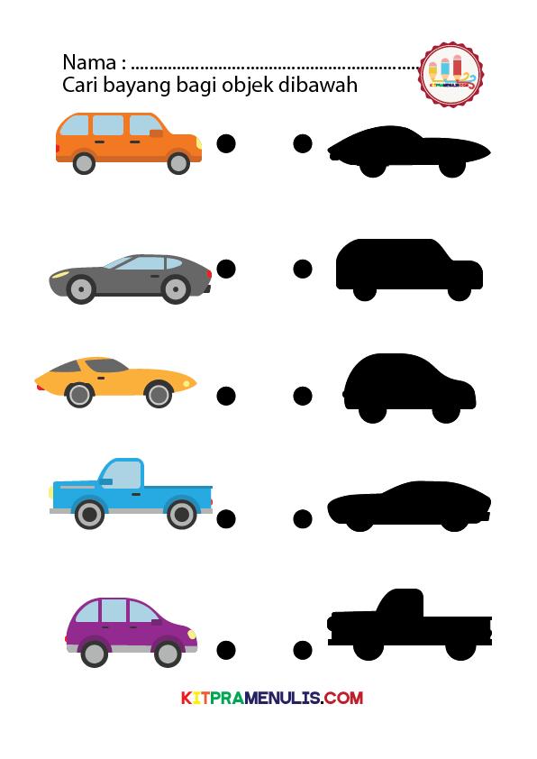 Suaikan-objek-mengikut-bayang-tema-kereta-01 Lembaran Kerja Suaikan Objek Dengan Bayangnya