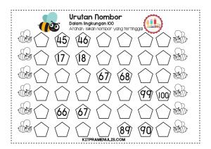 Lembaran-Kerja-Matematik-Urutan-Nombor-Dalam-Lingkungan-100-04 Lembaran Kerja Matematik Urutan Nombor Dalam Lingkungan 100-04
