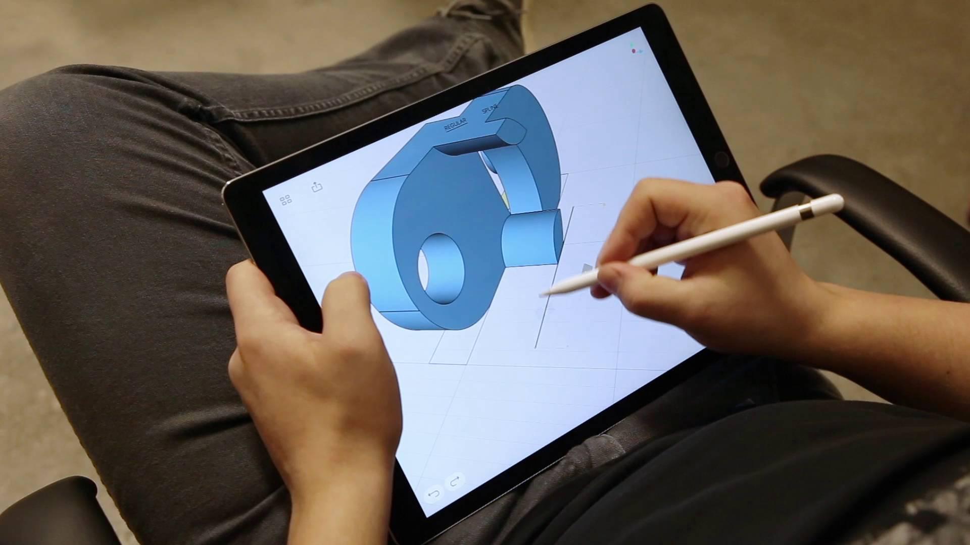 cr er ses pi ces en 3d sur ipad pro avec shapr3d kits imprimantes 3d. Black Bedroom Furniture Sets. Home Design Ideas