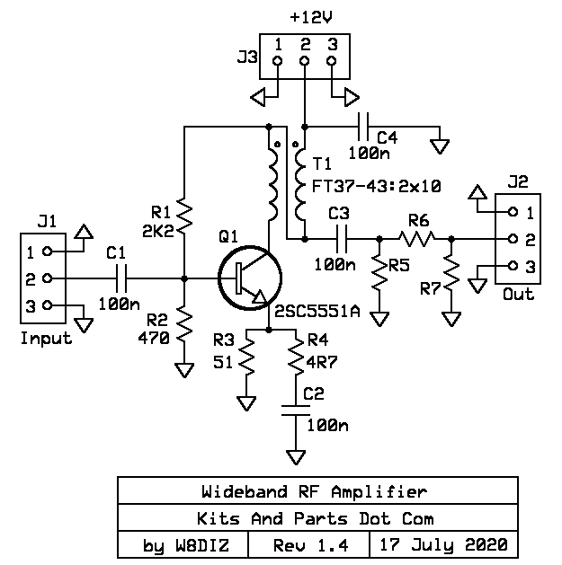 Universal Wideband RF Amplifier