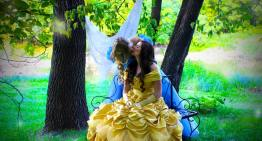 Couple's Epic Engagement Photos Prove Two Princesses Are Better Than One