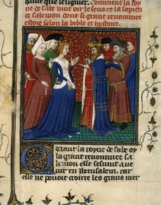 IMAGE: Solomon and the Queen of Sheba 1400s