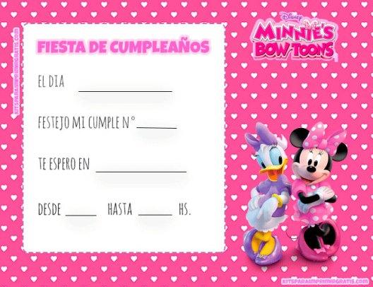 Minnie Daisy invitaciones cumpleanos
