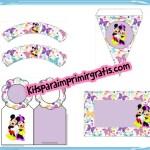 Imprimibles gratis de Minnie y Mickey para fiesta