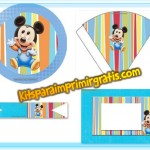 Kit de Mickey Baby para imprimir y decorar