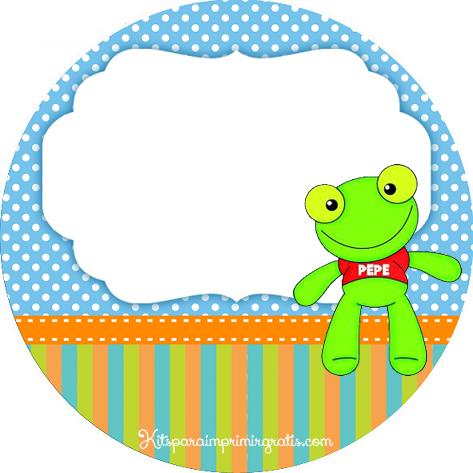 Etiqueta circular Sapo Pepe