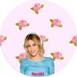 Etiquetas redondas de Violetta