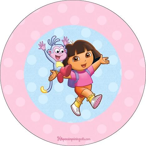 Etiquetas stickers de Dora la Exploradora