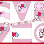 Kit de Hello Kitty para cumpleaños