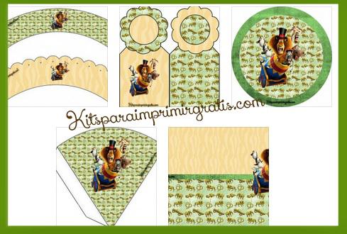 Kit De Madagascar Para Cumpleaños Kits Para Imprimir Gratis
