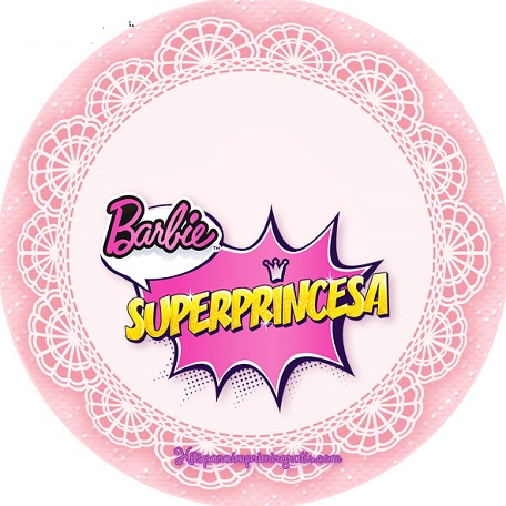 Imagenes de barbie super princesa para stickers toppers, decoración