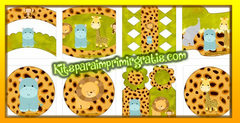 Kit imprimible con Animalitos de Safari