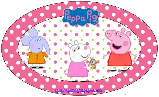 Etiquetas de Peppa Pug y sus amigos - Stickers peppa cerdita y amigos para descargar gratis