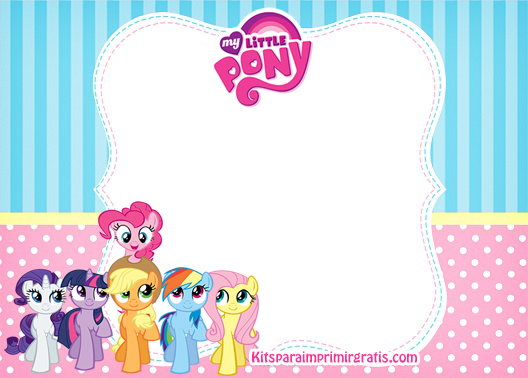 Etiquetas My Little Pony stickers My Little Pony marcos para fotos My Little Pony- Invitaciones de cumpleaños My Little Pony