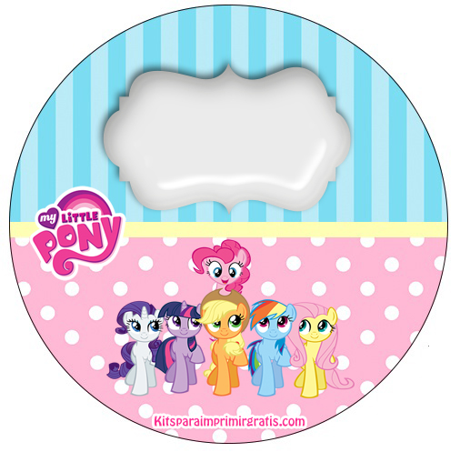 Etiquetas stickers de My Little Pony - Toppers de My Little Pony para descargar gratis
