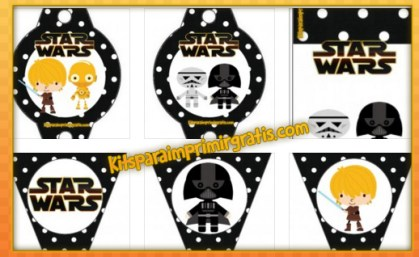 Kit imprimible Star Wars para descargar gratis