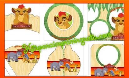 Kits para imprimir gratis La Guardia del leon