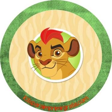 Topper etiquetas stickers La Guardia del Leon
