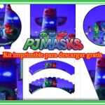 Decoracion de Pj Masks Kit para Imprimir Gratis