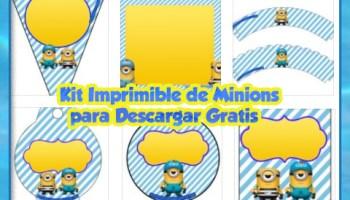 Kit Imprimible De Los Minions Etiquetas Conos Para Dulces