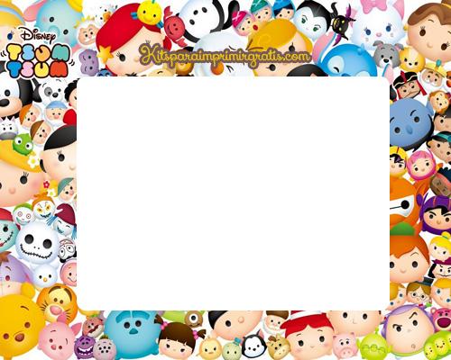Kit Imprimible de Tsum Tsum para descargar gratis | Kits para ...