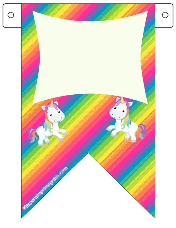 Banderines Unicornios para imprimir